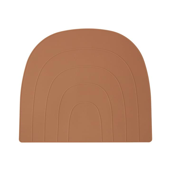 Regnbue placemat 34 x 41 cm, karamel af OYOY
