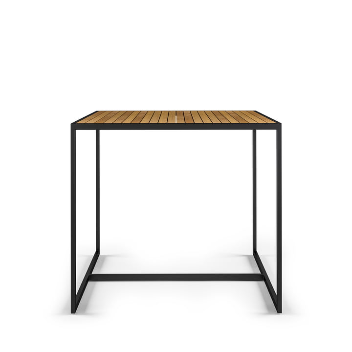 Open Bistro Röshults 100 x 100 cm, rustfrit stål / teak af Röshults