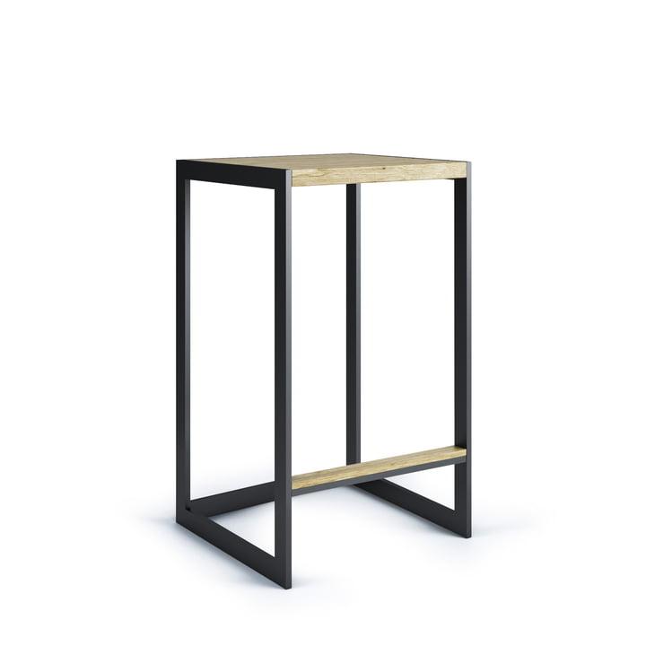 Garden barstol H 60 cm, rustfrit stål / teak fra Röshults