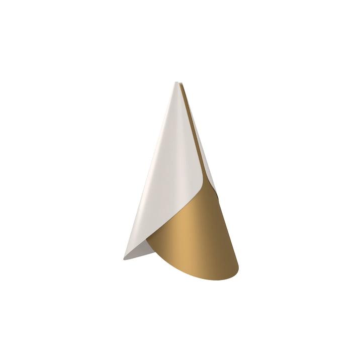 Umage - Cornet lampeskærm, Ø 1 3. 4 x 2 3. 8 cm, messing / hvid