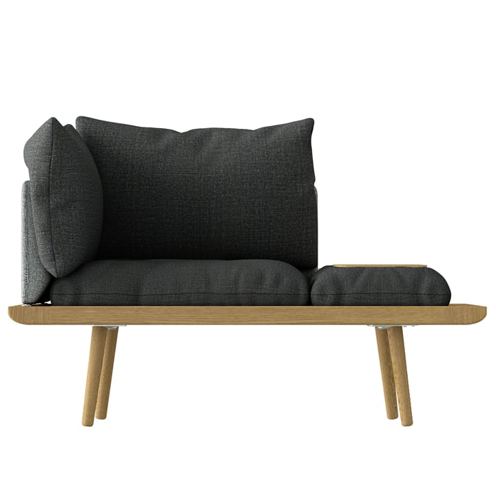 Lounge omkring 1. 5 sæder fra Umage i eg / skifergrå / mørkegrå
