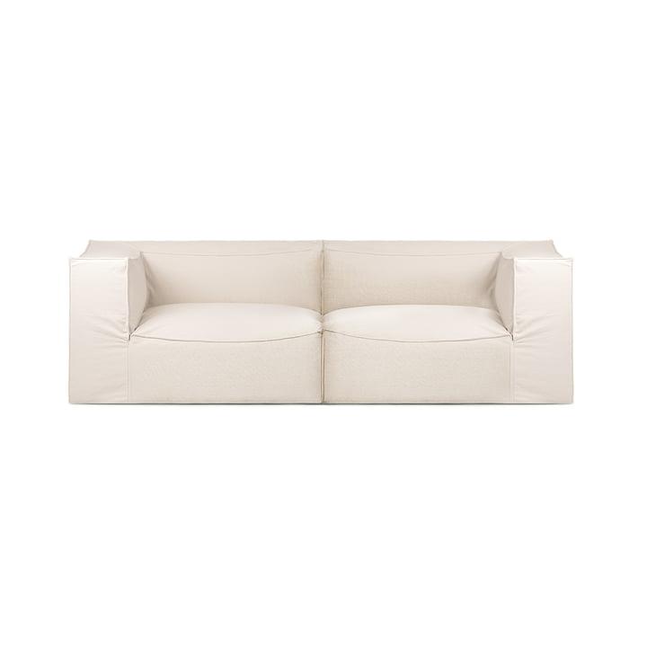 Catena 2-personers sofa tør bomuldsslub fra ferm Living in off-white