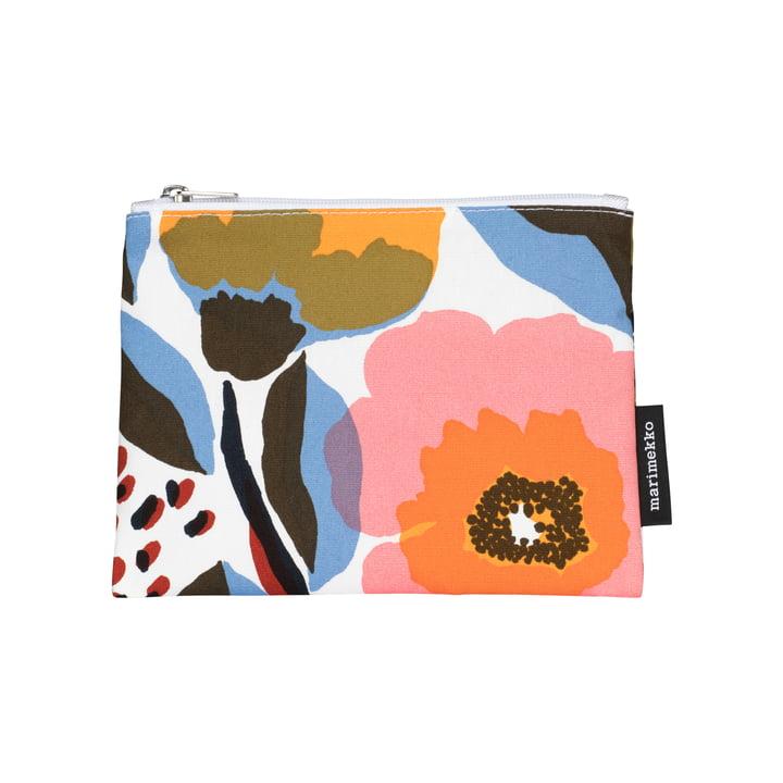 Rosarium kosmetisk taske 14 x 21 cm af Marimekko i hvid / rød / gul / blå