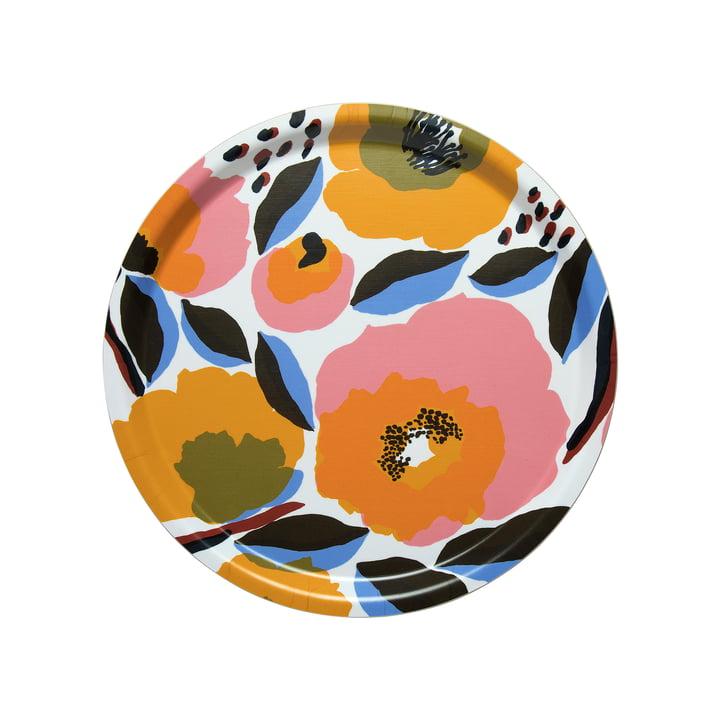Marimekko - Rosarium bakke Ø 31 cm, hvid / rød / gul / blå (forår / sommer 2020)