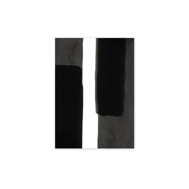 Enso Black I-plakat, 30 x 40 cm fra Paper Collective
