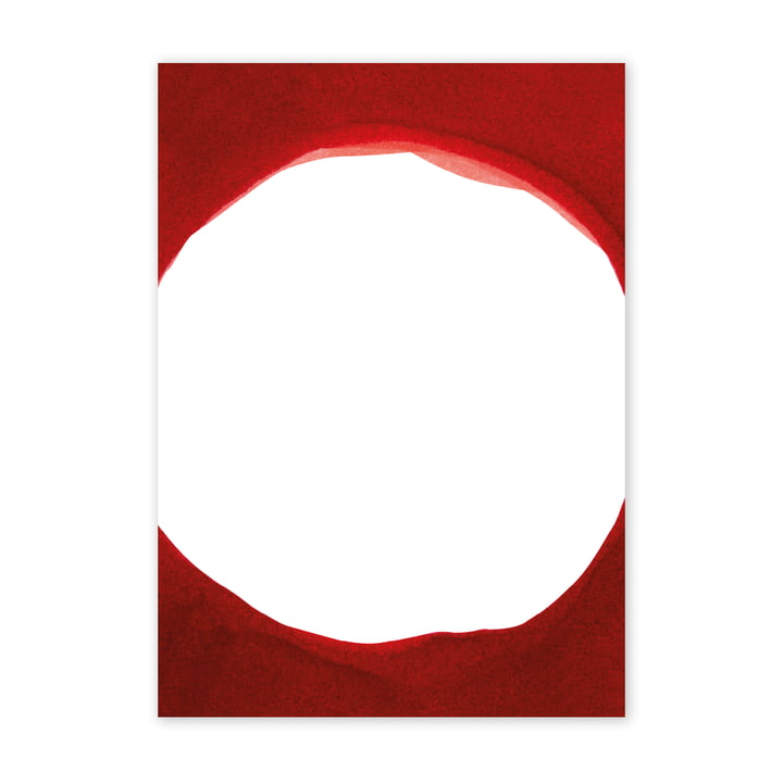 Enso Red III-plakat, 50 x 70 cm af Paper Collective