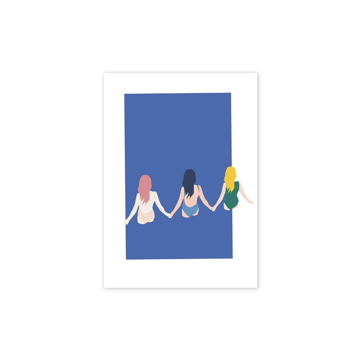 Girls plakat, 30 x 40 cm fra Paper Collective
