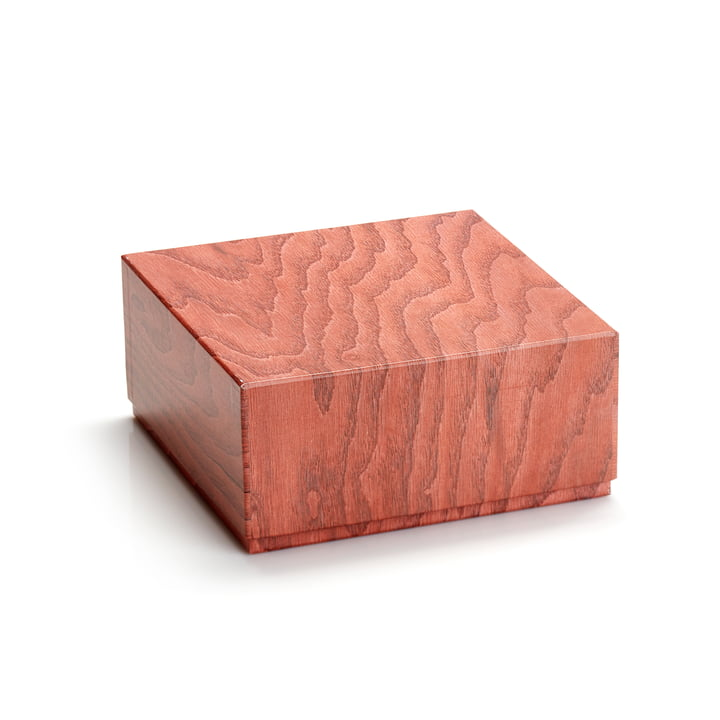 Opbevaringsboks 20 x 9,5 cm efter applicata i terracotta