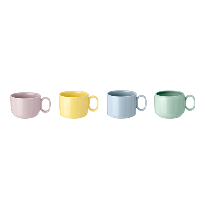 Mix'n'Match kopper (sæt med 4) af Rig-Tig af Stelton i blå / gul / lyserød / grøn