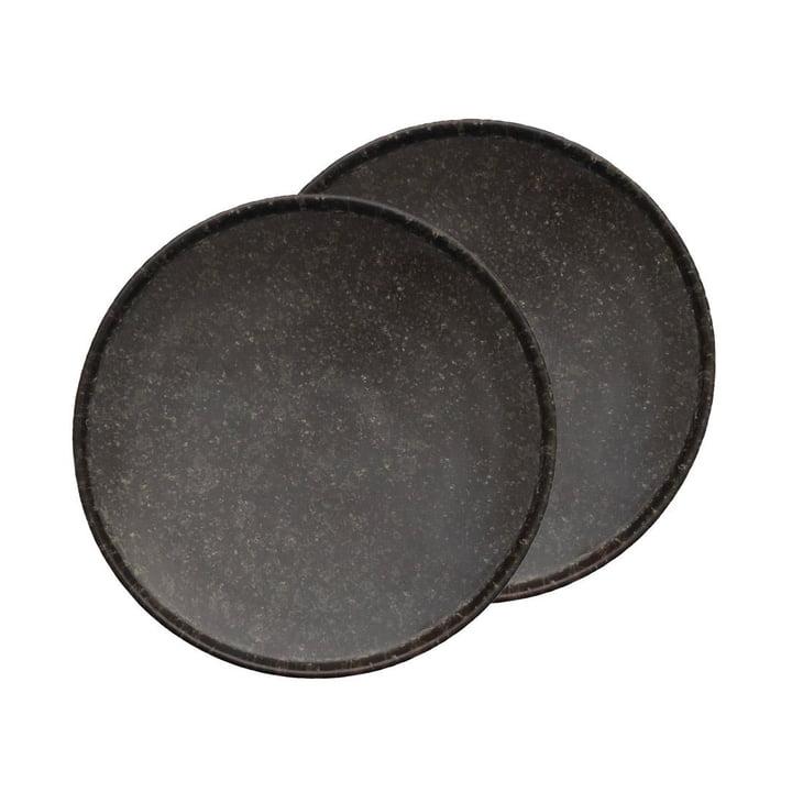 Inka plader Ø 16 cm fra OYOY i brun (sæt med 2)