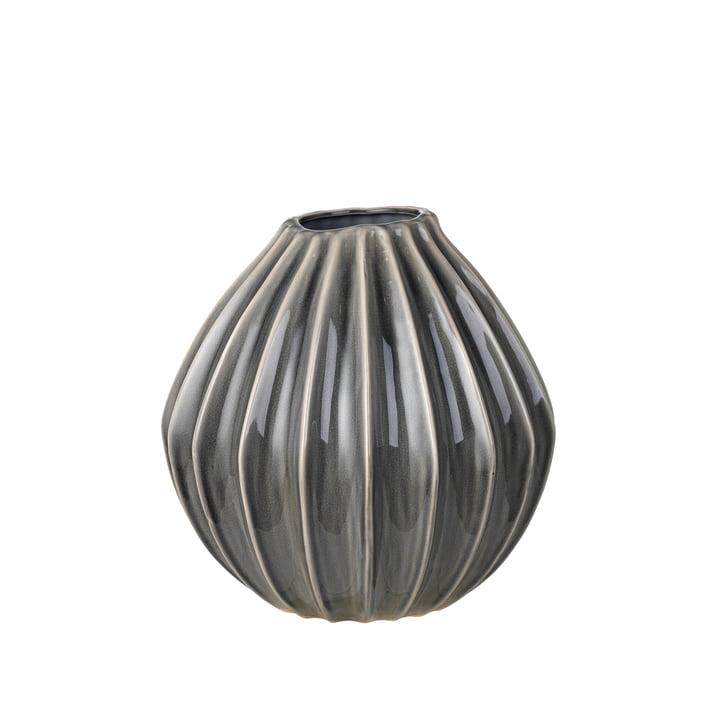 Wide vase, Ø 30 x H 30 cm, røget perle af Broste Copenhagen