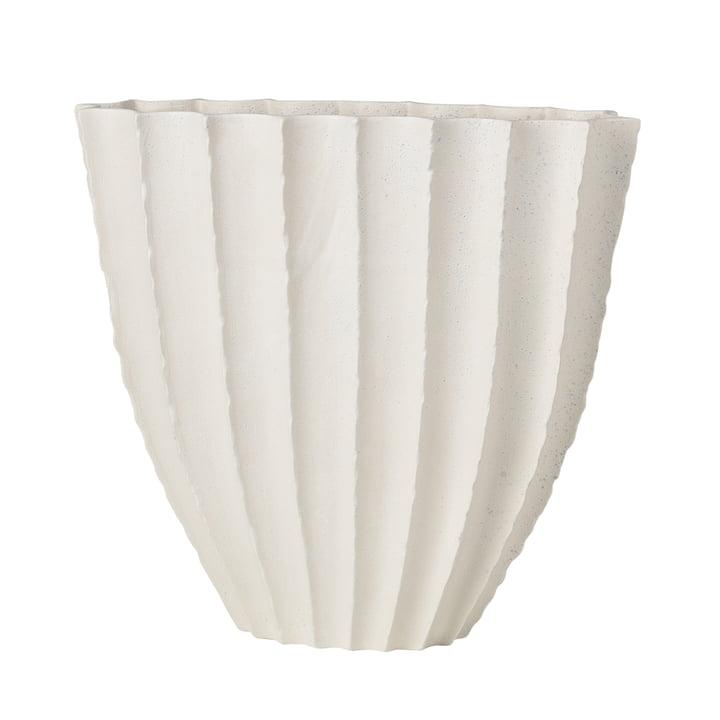 Debbie Vase H 35 cm, hvid af Broste Copenhagen