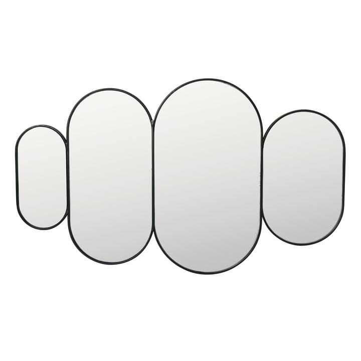 Pelle spejl XL, sort af Broste Copenhagen