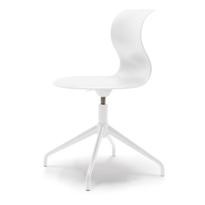 Pro stol fire-stjernet aluminiumsramme af Flötotto i snehvid