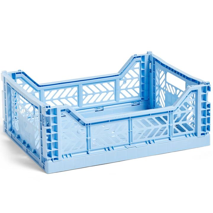 Colour kasse kurv M 40 x 30 cm fra Hay i lyseblå