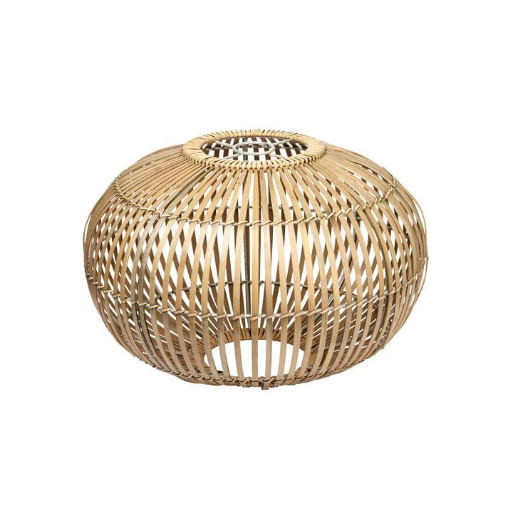 Broste Copenhagen - Zep bambus lampeskærm, Ø 38 x H 26 cm, naturlig
