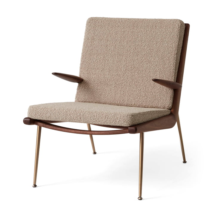 Boomerang HM2 Loungechair af & tradition i valnød olieret / beige ( Boomerang HM2 Loungechair 003)