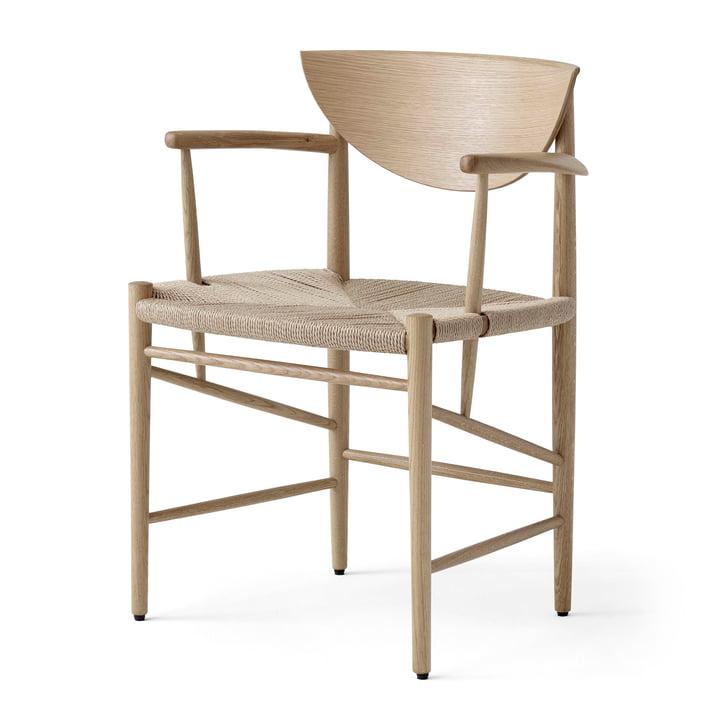 Drawn HM4 lænestol efter & tradition i hvidt olieret eg / Drawn HM4