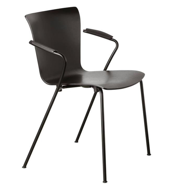 Vico Duo lænestol af Fritz Hansen i sort / sort ask