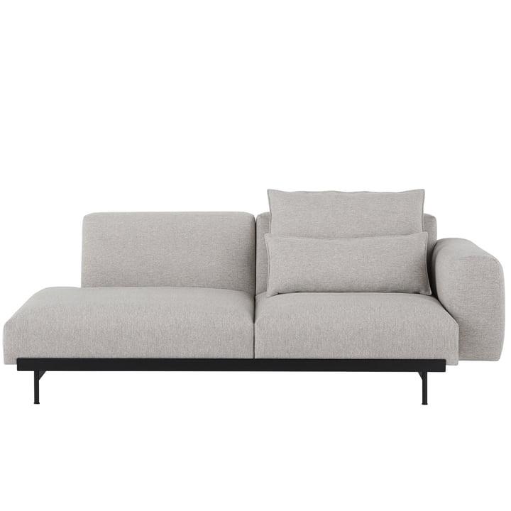 In Situ Modular sofa, 2-personers / konfiguration 2, Kvadrat Clay 12 af Muuto