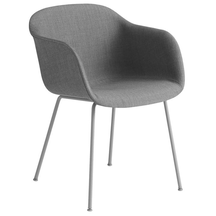 Fiber Chair Tube Base, grå / Remix 133 af Muuto