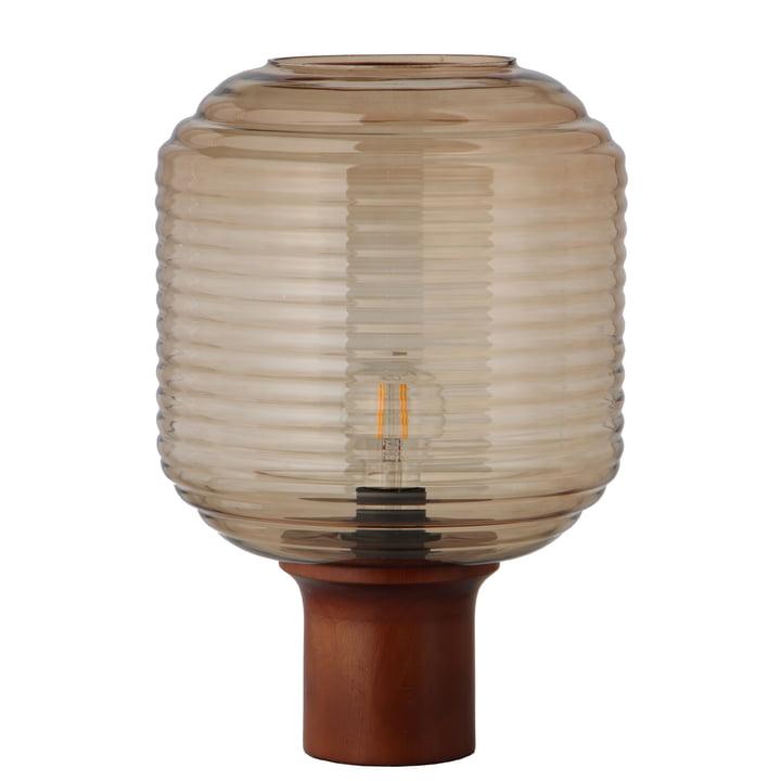 Honey Ø 26 cm, glasfarvet / gummitræ mørkt farvet af Frandsen