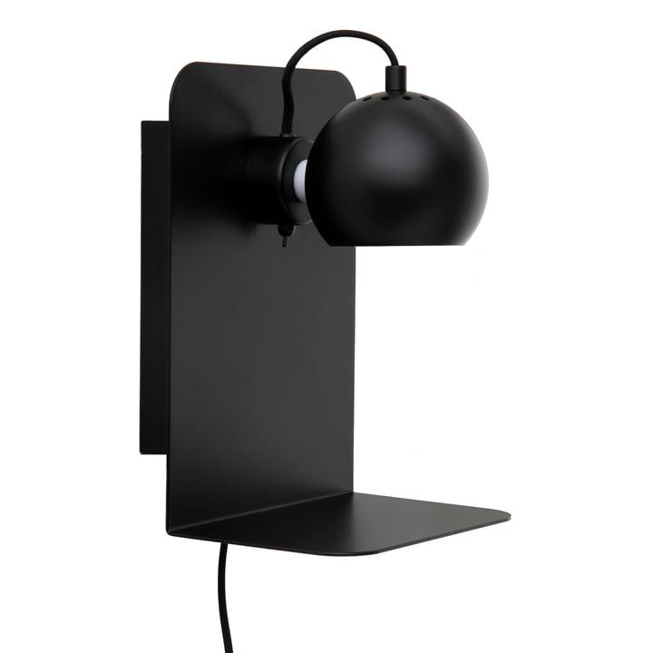 Ball USB med hylde, sort mat fra Frandsen