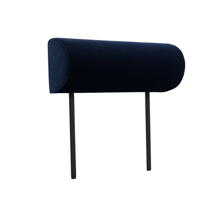Armlæn til Weber modulær sofa fra Objekte unserer Tage dagsgenstande i mørkeblå (City Velvet CA7832 / 052)