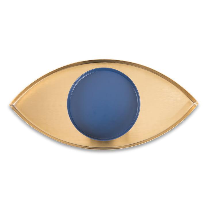 The Eye bakke, sæt med 2, guld / blå af Doiy