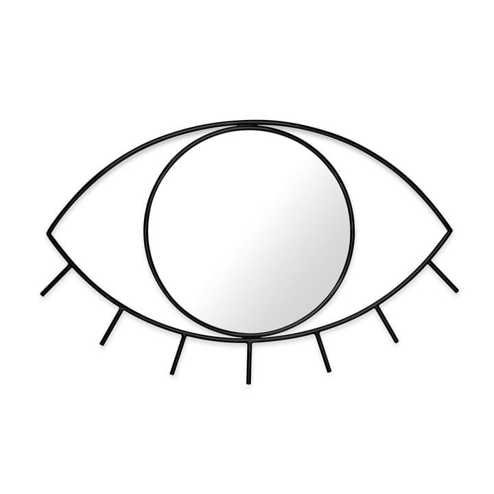 Cyclops væg spejl M, sort af Doiy