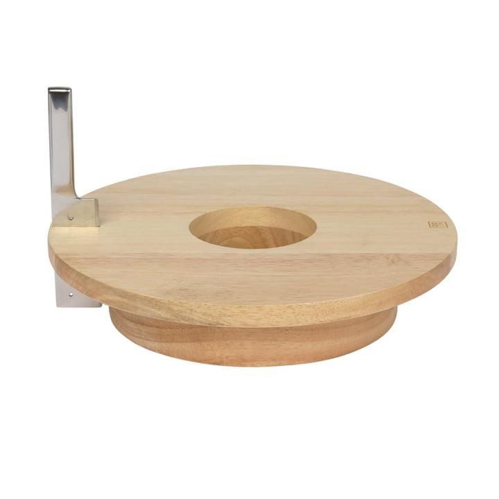 Cheese & Wine serveringsbræt inklusive kniv, gummitræ / rustfrit stål fra Doiy