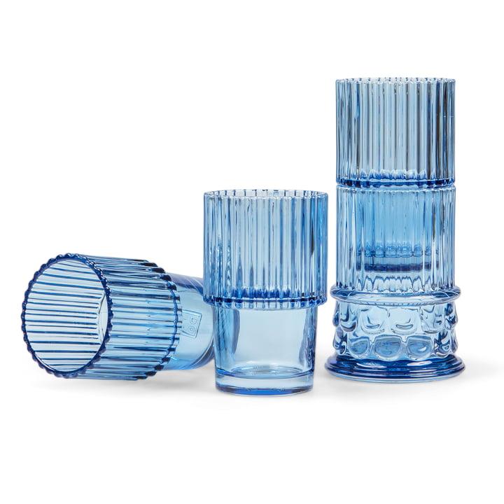 Doiy - Hestia drikkeglas sæt (4 Doiy ), Blå
