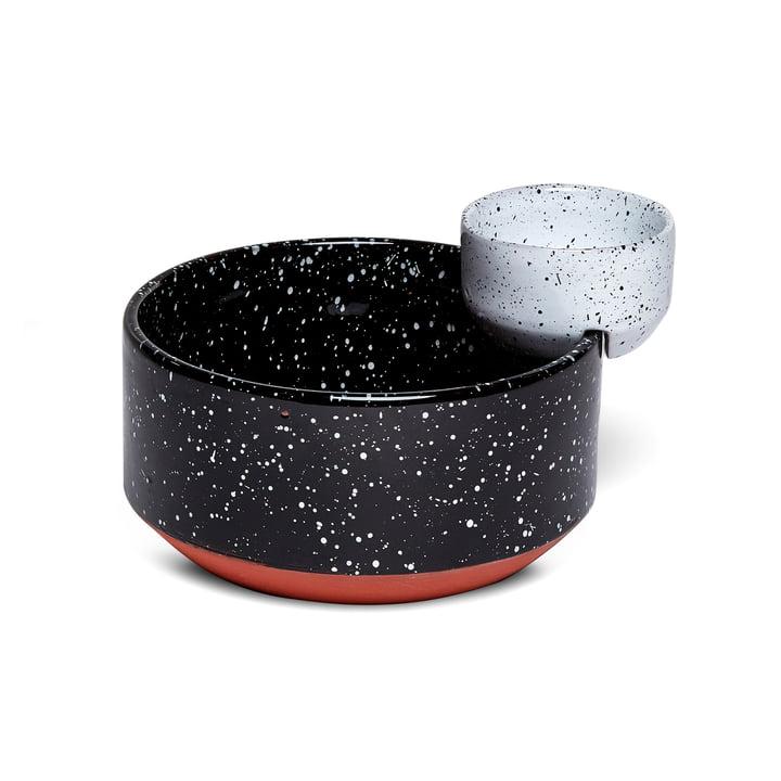 Eclipse serveringsskål lille, sort / hvid af Doiy