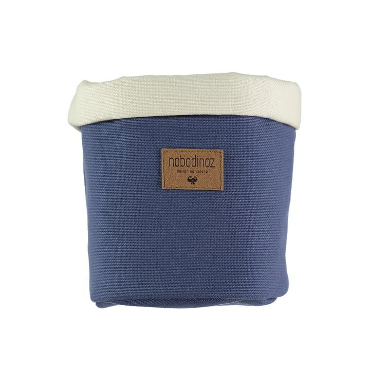 Tango opbevaringskurv medium, Ø 19 x H 24 cm, Ægæiske blå af Nobodinoz