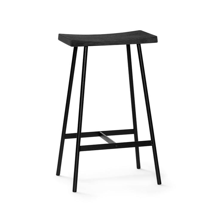 HC2 barstol H 65 cm af Andersen Furniture i sort eg / sort stål