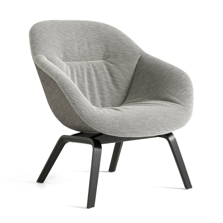 About A Lounge Chair AAL 83 Soft Duo af Hay i sort / prik 1682 02 Bianconero / Remix 152 (EU)