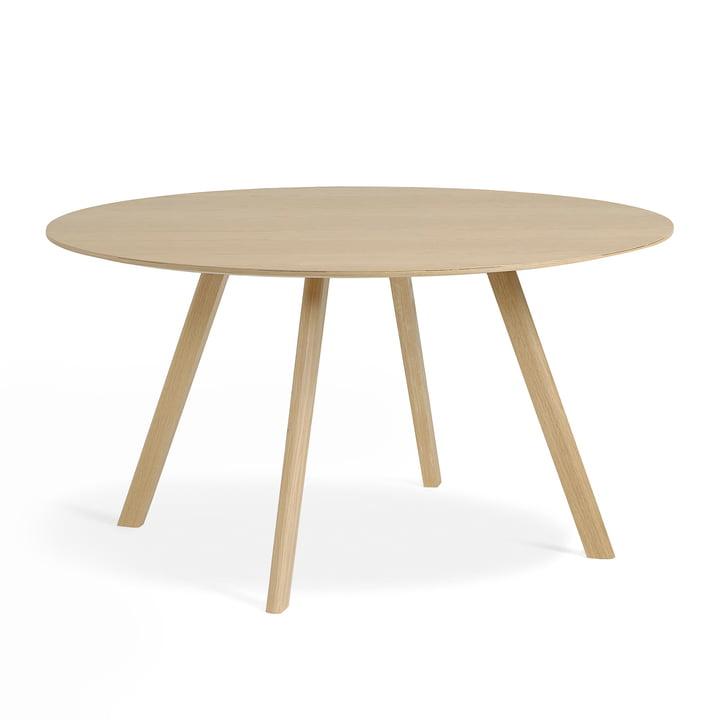 Copenhague CPH25 bord fra Hay med 140 cm i diameter i matlakeret eg