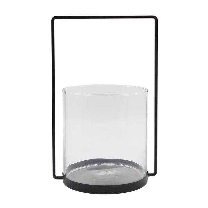 Metal lanterne H 36 cm, sort fra Connox Collection