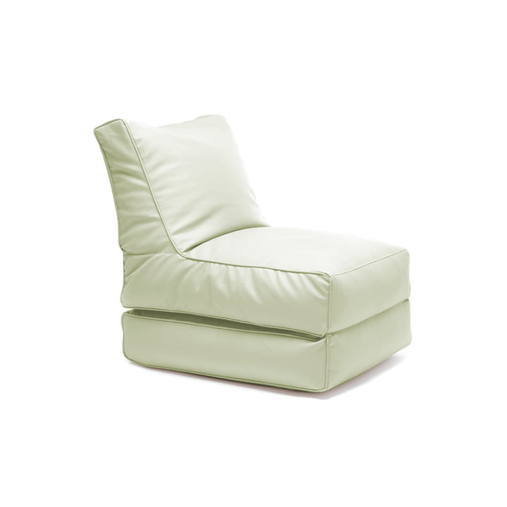 Fleksibel seng fra Sitting Bull i blødt grønt