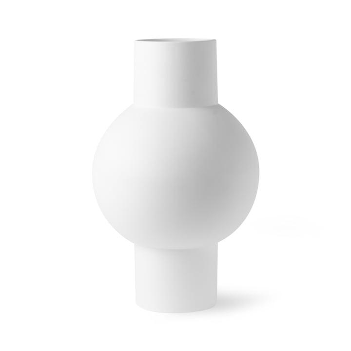Vase M, Ø 21 x H 32 cm, mat hvid fra HKliving