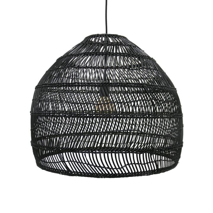 Wicker loftlampe M Ø 60 x H 50 cm gange HKliving i sort