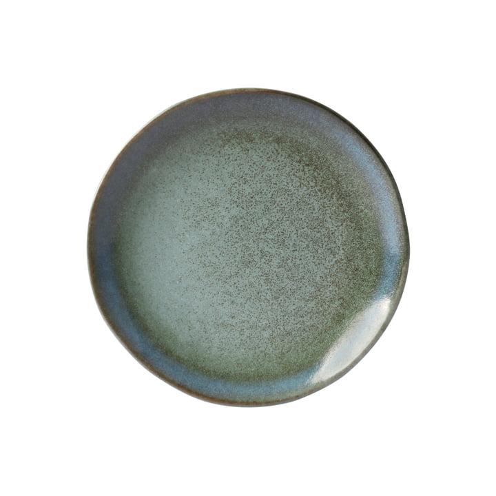 70's dessert tallerken Ø 17,5 cm x HKliving i mosgrøn