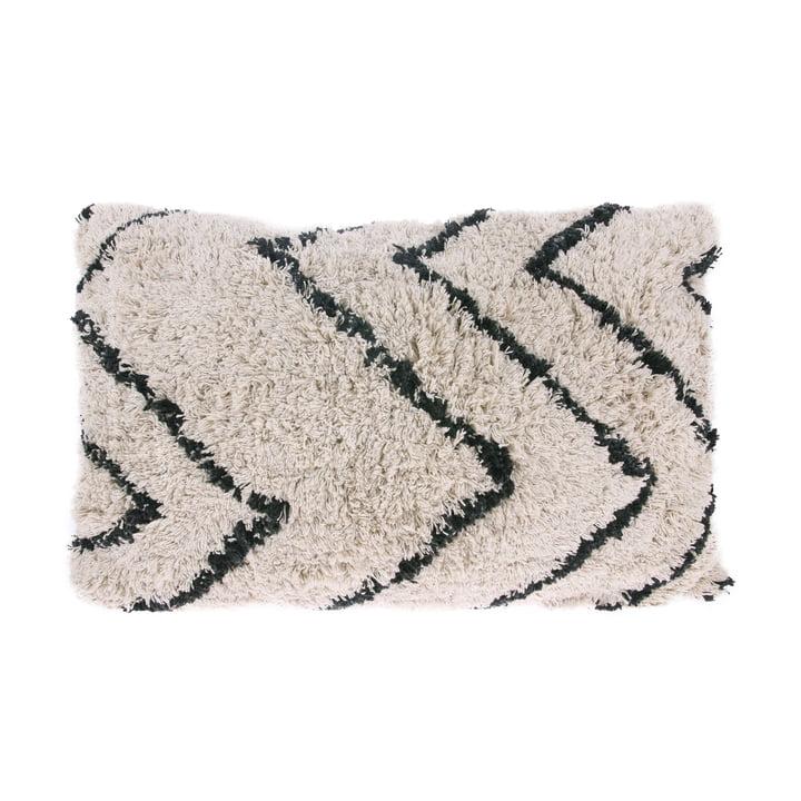Zigzag pude 60 x 40 cm af HKliving i sort og hvid