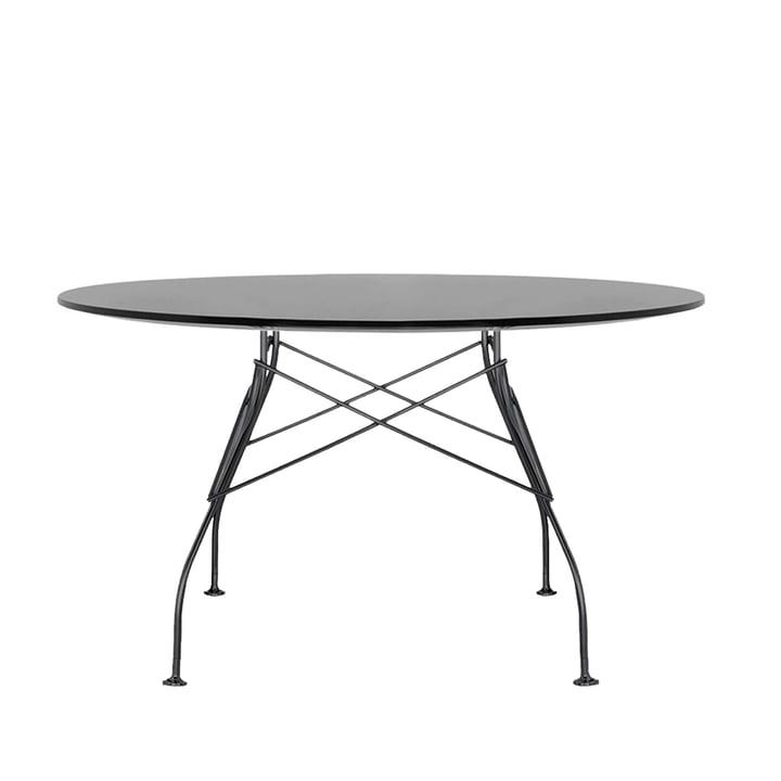 Glossy udendørs bord Ø 128 x H 72 cm af Kartell i sort