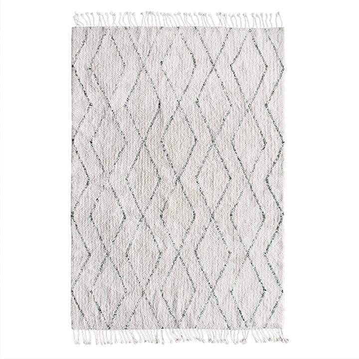 Berber tæppe 140 x 200 cm af HKliving i hvid / sort