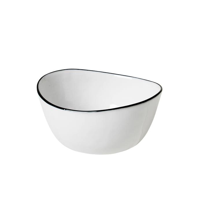 Salt skål, 10 x 11 x H 5,5 cm, hvid / sort fra Broste Copenhagen