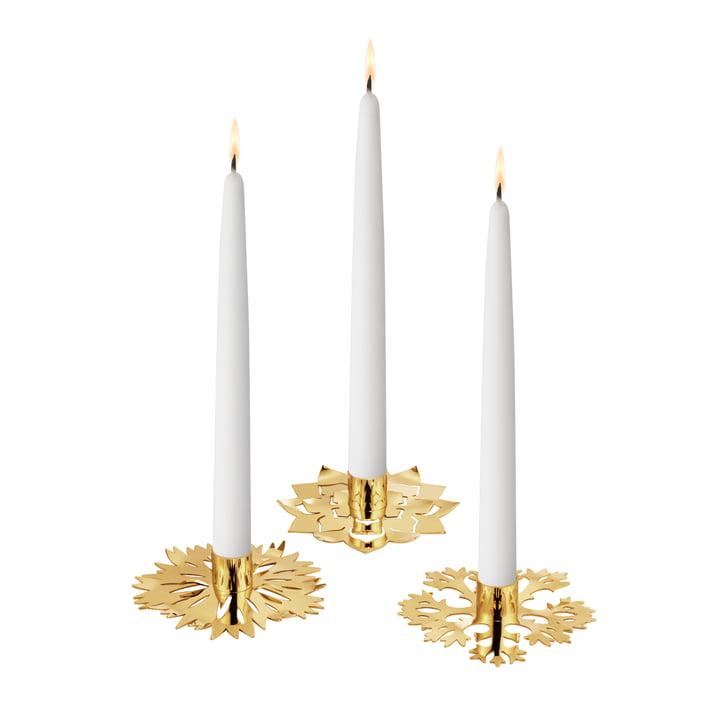 Eisblume lysestage, sæt med 3, guld af Georg Jensen .