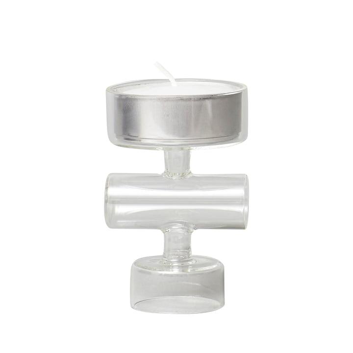 Cartwheel lysestage, glas fra Form & Refine