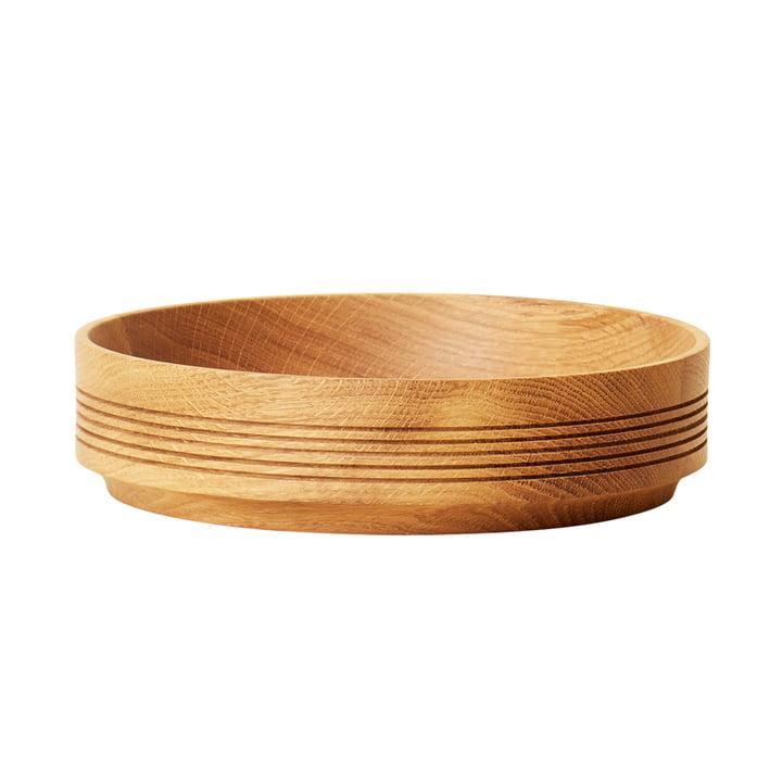 Section træskål, Ø 24 cm H 6 cm, eg fra Form & Refine