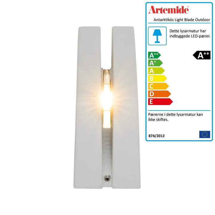 Antarktikós Light Blade udendørs LED-lampe fra Artemide